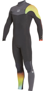 Billabong Júnior Furnace Carbono Comp 3/2mm Zip Free Graphite Wetsuit Zip Free F43b10