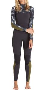 Billabong Damen Salty Dayz 3 / 2mm Brust-Reißverschluss-Neoprenanzug - BLACK SANDS C43G03