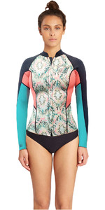 Billabong Womens Surf Capsule 1mm Peeky Wetsuit Jacket ALOE C41G07