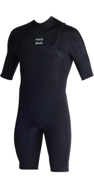 Billabong Pro Series 2mm Zipperless Shorty Wetsuit NEGRO C42M03