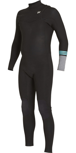 2018 Billabong Ragazzi Revolution Tribong 4 / 3mm Chest Zip Wetsuit NERO 2 F44B12