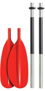 Bravo KWB 230cm 4 PIECE ALU PADDLE - LAME COURBE - ROUGE