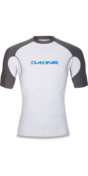 2018 Dakine Heavy Duty Snug Fit Kurzarm Surf Shirt WEISS 10001018