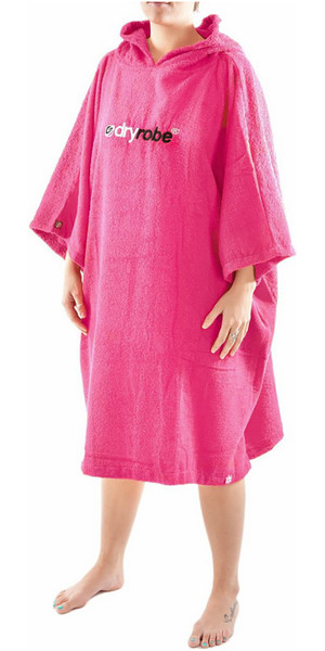 2019 Dryrobe Short Sleeve Towel Change Robe / Poncho - GRANDE colore rosa