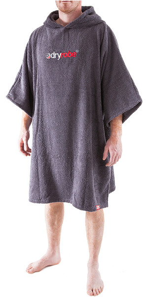2019 Dryrobe Short Sleeve Towel Change Robe / Poncho - Medium in grigio ardesia