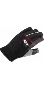 2019 Gill Championship Short Finger Sailing Gloves Nero 7242