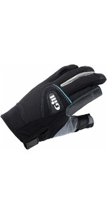 2021 Gill Womens Championship Long Finger Sailing Gloves Black 7262