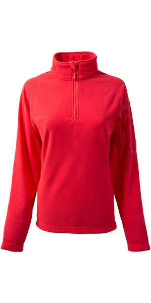 2018 Gill Damen Thermogrid Zip Neck Fleece Coral 1370W