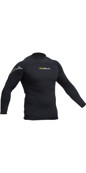 2019 Gul Code Zero 3mm Langermet Thermo Top BLACK AC0067-B2