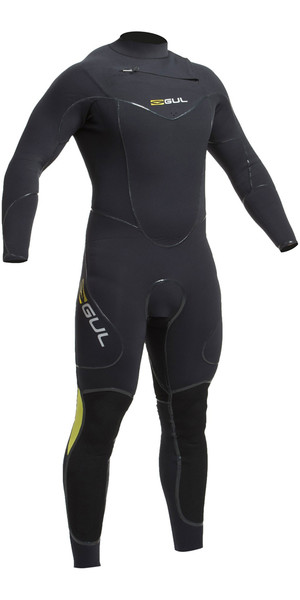 2018 Gul Code Zero 4/3mm Chest Zip - Relief System Sailing Wetsuit BLACK CZ1203-B2