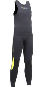 2019 Gul Junior Kode Zero 3mm Long John Wetsuit BLACK / BLACK CZ4214-B2