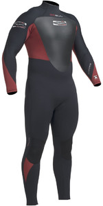 2019 Gul Response 5/3mm Back Zip Gbs Wetsuit Preto / Cardinal Re1213-b1