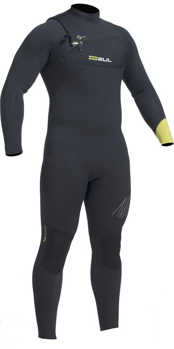 2020 Gul Response Fx 5/4mm Chest Zip Gbs Wetsuit Zwart / Lime Re1242-b1