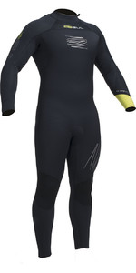2019 Gul Response Fx 5/4mm Bs Back Zip Wetsuit Preto / Cal Re1255-b1