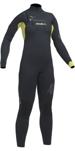 2020 Gul Response Junior 5/4mm Chest Zip Wetsuit BLACK / LIME RE1251-B1