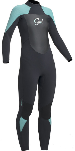 2019 Gul Response Ladies 5/3mm GBS Back Zip Wetsuit Black / Pistachio RE1229-B1