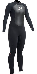 2019 Gul Response Mujeres 5 / 3mm GBS Back Zip Wetsuit Negro RE1229-B1