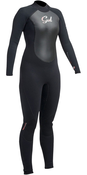 2018 Gul Response Damen 5/3mm GBS Neoprenanzug Backzip Schwarz RE1229-B1