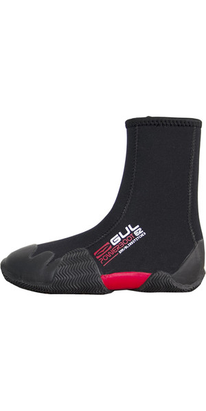 2018 Gul Round Toe 5mm Zipped Power Boot Nero BO1306-B2