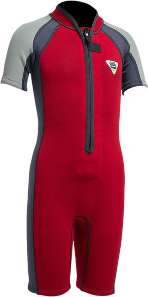 Gul SeaSpray Toddler 3 / 2mm Flatlock Shorty SS3301 Rosso / Grigio - 2ND