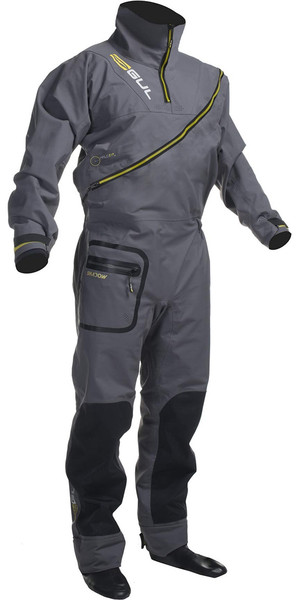 Gul Shadow Herren Halo Zip Drysuit Charcoal GM0349-A8