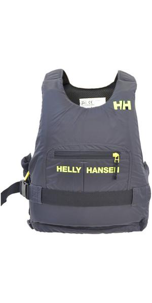 2018 Helly Hansen 50N Rider Race Plus + Ayuda a la flotabilidad Ebony / Lime 33823
