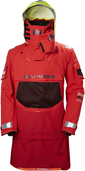 2019 Helly Hansen AEGIR OCEAN DRY TOP Alert Red 32006