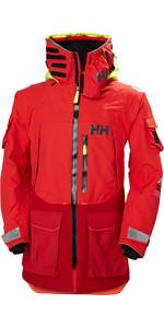 2019 Helly Hansen Aegir Ocean Jacket Alert Rojo 30335