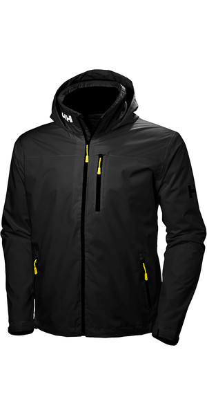 2018 Helly Hansen Crew Hooded Jacket Black 33875