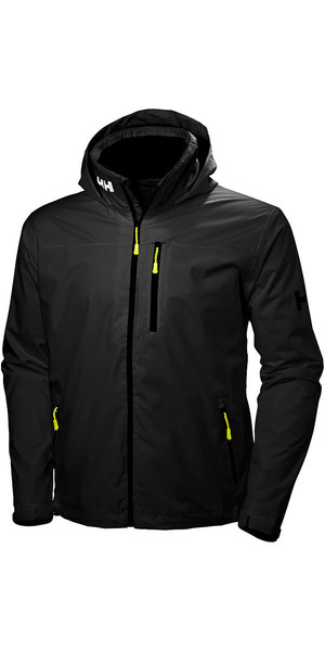 2019 Helly Hansen Hooded Crew Mid Layer Jacket Sort 33874