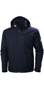 2020 Helly Hansen Kapuzen Crew Mid Layer Jacke Navy 33874