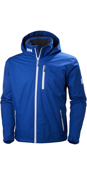 2019 Helly Hansen Hooded Crew Mid Layer Jacket Olympian Blue 33874