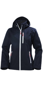 2018 Helly Hansen Womens Crew Hooded Jacket Navy 33899