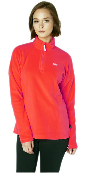 2018 Helly Hansen Damen Daybreaker 1/2 Zip Fleece Neon Koralle 50845