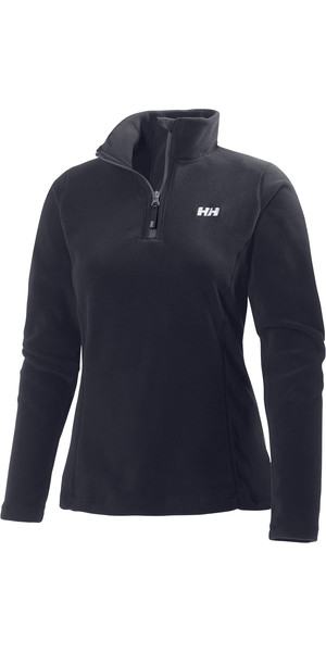 2018 Helly Hansen Ladies Daybreaker 1/2 Zip Fleece Black 50845