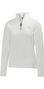 2019 Helly Hansen Ladies Daybreaker 1/2 Zip Fleece BLANCO / Plateado 50845