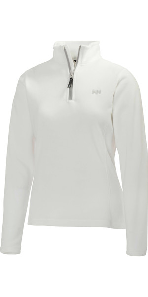 2018 Helly Hansen Ladies Daybreaker 1/2 Zip Fleece BLANCO / Plateado 50845