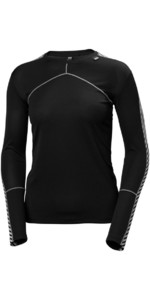 Helly Hansen Womens HH Lifa Crew Base Layer Black 48326