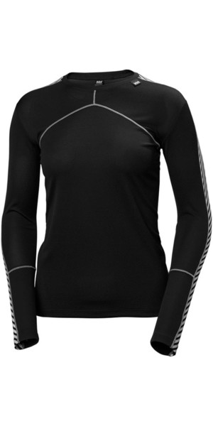 2018 Helly Hansen Damen HH Lifa L / S Crew Base Layer Schwarz 48326