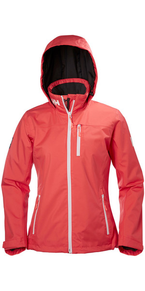 2018 Helly Hansen Ladies Hooded Crew Giacca a mezza manica Cayenne 33891