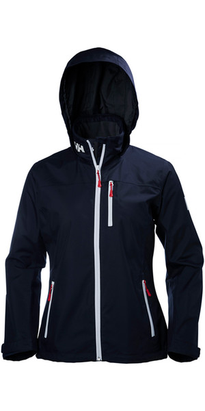 2018 Helly Hansen Ladies Hooded Crew Chaqueta de media capa MARINO 33891