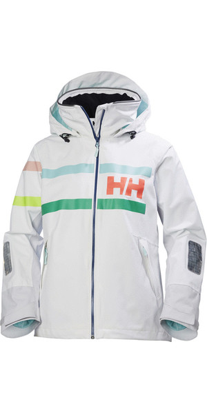 2018 Helly Hansen Womens Salt Power Jacket White 36279