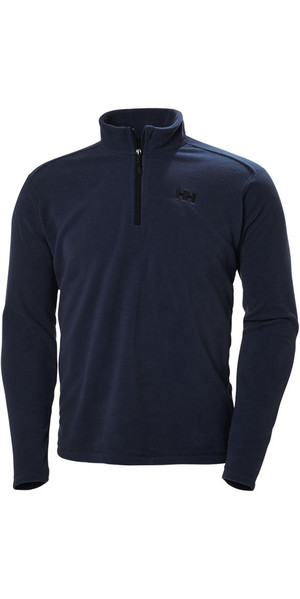 Helly Hansen Mens Daybreaker 1/2 Zip Fleece Evening Blue / Black 50844
