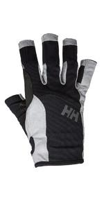 2020 Helly Hansen Short Finger Segelhandschuh Schwarz 67772