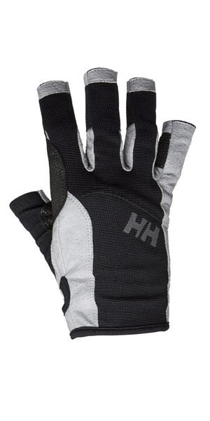2019 Gant de voile à doigts courts Helly Hansen Noir 67772