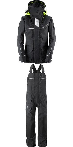 2019 Henri Lloyd Elite Offshore 2.0 Jacket Y00376 & Hi Fit Pantalones Y10174 COMBI SET BLACK