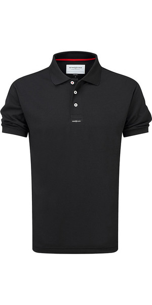2019 Henri Lloyd Fast Dri Silver Plain Polo in Black Y30282