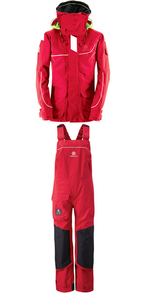 2019 Henri Lloyd Chaqueta para dama Offshore 2.0 Y00377 & Hi Fit Pantalones Y10175 COMBI SET NEW RED