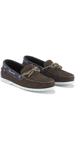 Henri Lloyd ladies Leaf Shoe Dark Brown Denim F94424