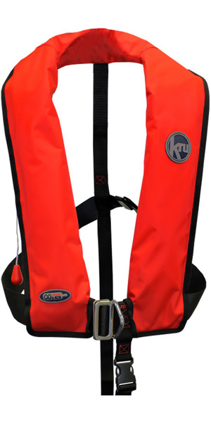 2018 Kru XF ISO Selbstgas-Schwimmweste mit Harness Red LIF7573